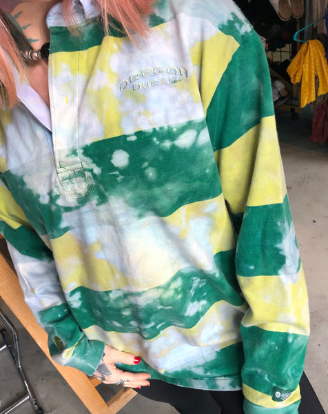 Oregon Ducks Tie Dye Rugby Shirt