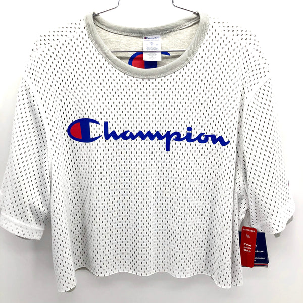 RECOLLECTION Champion Mesh Crop T-Shirt