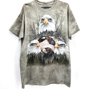 RECOLLECTION Wildlife Eagle Tie Dye T-Shirt