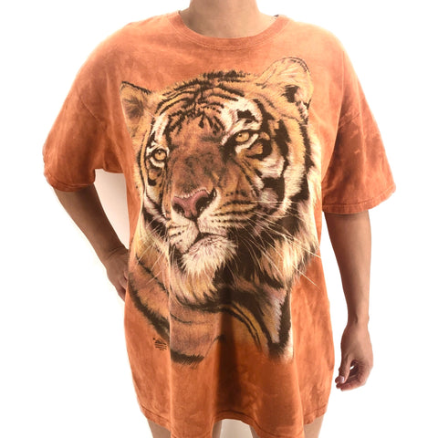 RECOLLECTION Wildlife Exotic Tiger Tie Dye T-Shirt