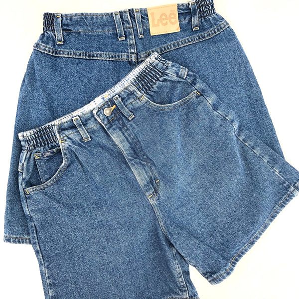 Lee™ High Rise Long Line Denim Shorts