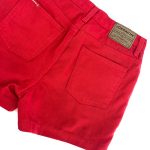 Jordache™ High Rise Red Denim Shorts