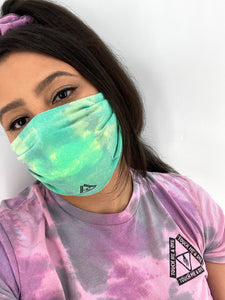 Color Changing Tie Dye Mask (Green Machine)