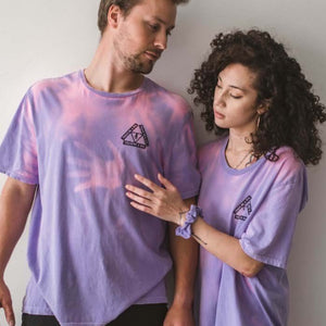 TOUCH ME & DYE- unisex color changing t-shirt (purple haze)