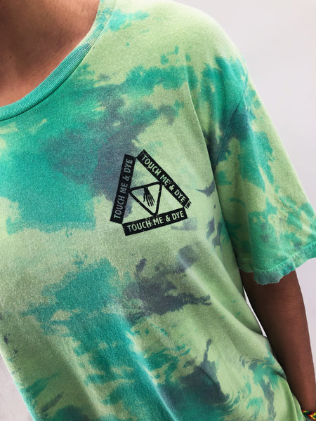 Unisex Color Changing Tie Dye T-Shirt (Green Machine)
