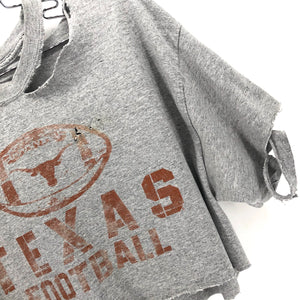 RECOLLECTION Distressed Texas Longhorns Crop T-Shirt
