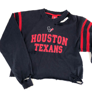 RECOLLECTION Distressed Houston Texans LS Shirt