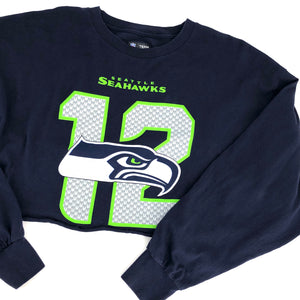 RECOLLECTION Wide Crop Seattle Seahawks LS T-Shirt