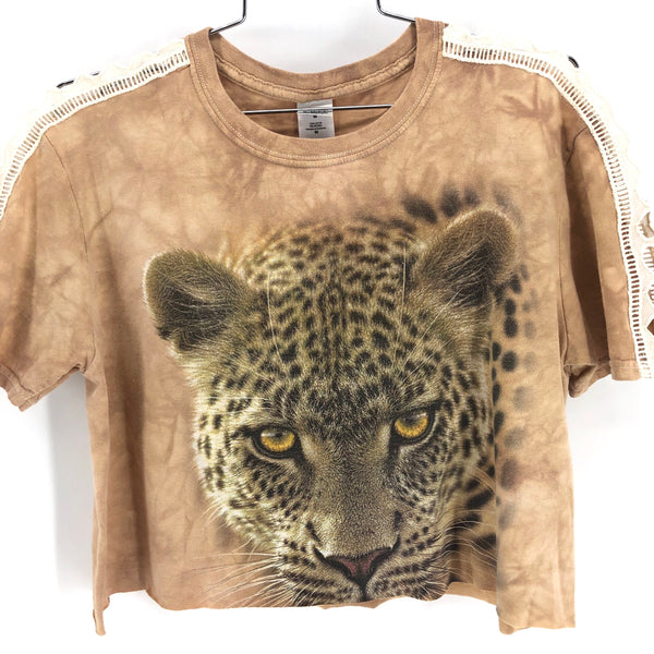 RECOLLECTION- Vintage Cheetah Prowl Crop T-Shirt