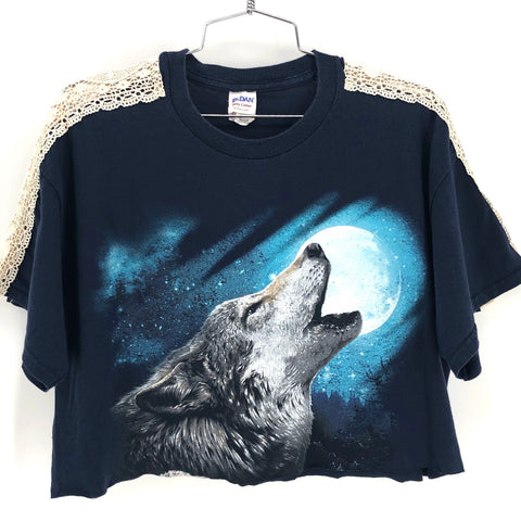 RECOLLECTION Vintage Lone Wolf Crop T-Shirt