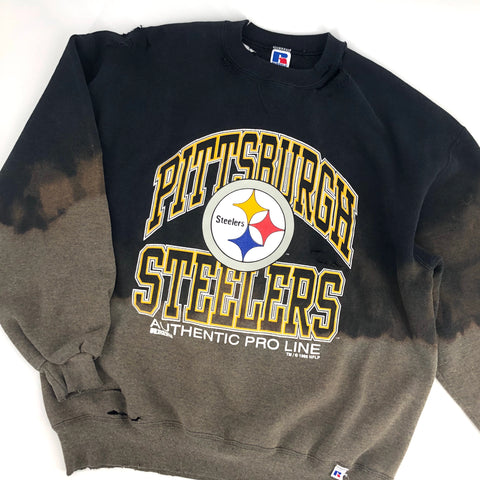 RECOLLECTION Distressed Pittsburgh Steelers Sweatshirt