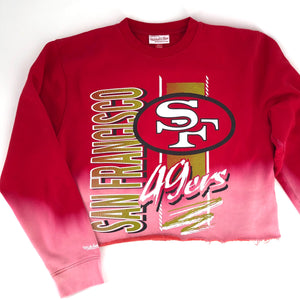 RECOLLECTION Distressed Crop 49ers Sweatshirt