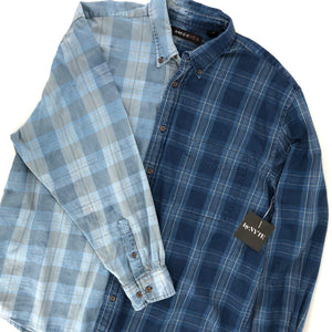 RECOLLECTION Reverse Ombre Plaid Flannel