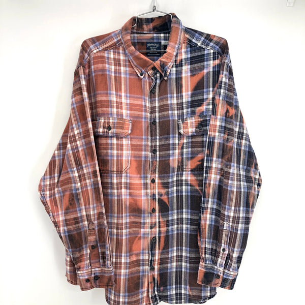 RECOLLECTION Tie Dye Plaid Flannel