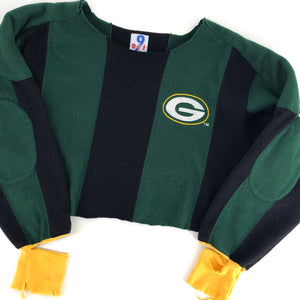 RECOLLECTION Green Bay Packers Fleece Crop