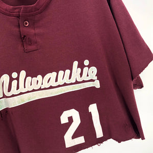 RECOLLECTION Distressed Milwaukie Crop T-Shirt