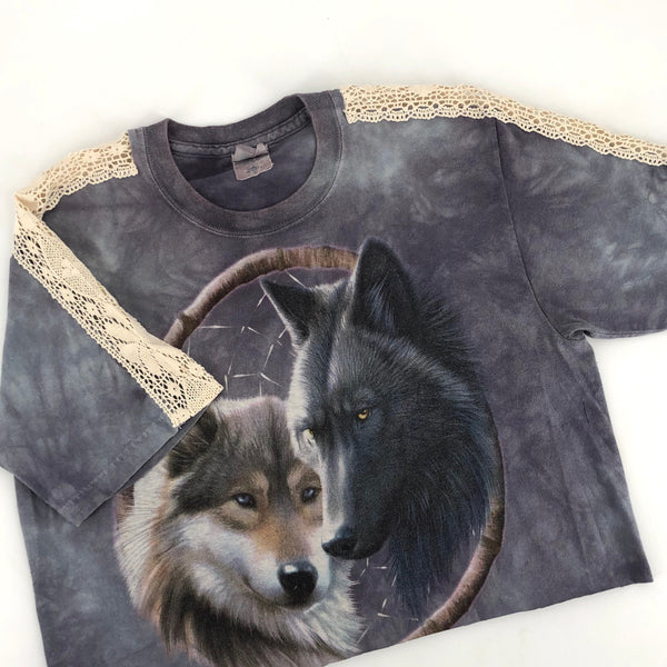 RECOLLECTION Vintage Wolf Pack Crop T-Shirt