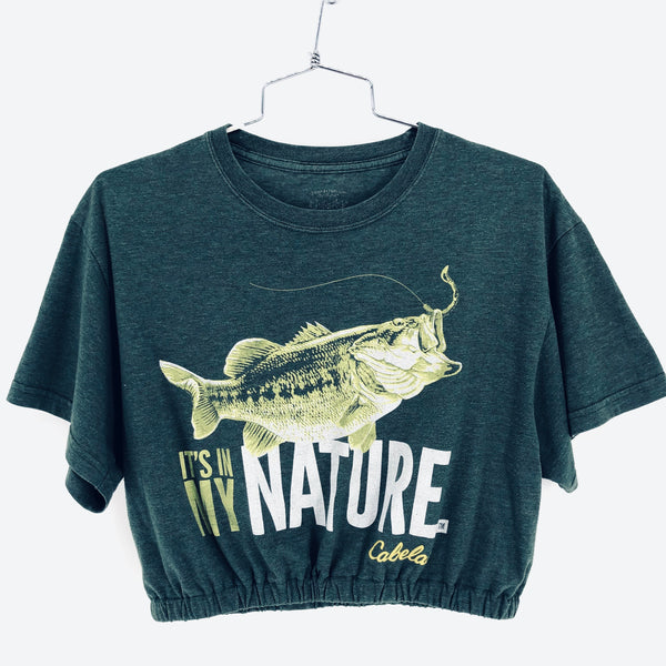 RECOLLECTION Vintage Cabela's My Nature Crop T-Shirt