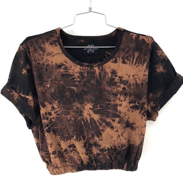 RECOLLECTION Vintage Jay Tie Dye Crop T-Shirt