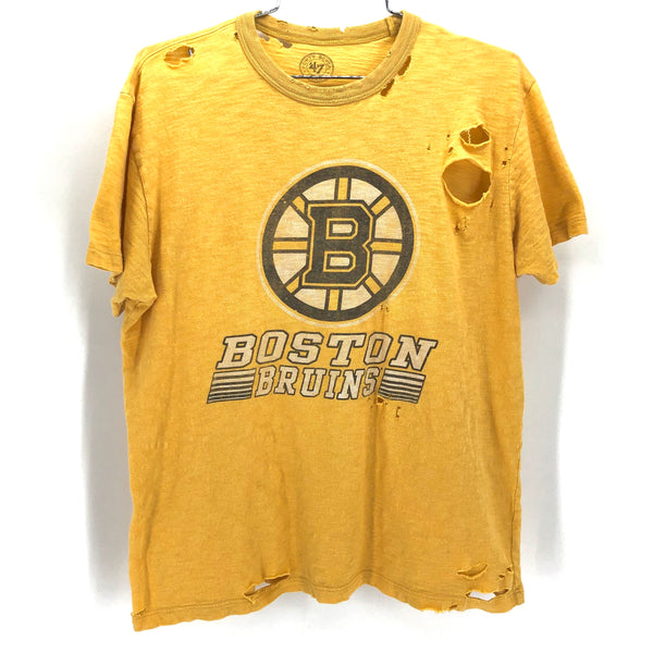 RECOLLECTION Distressed Boston Bruins T-Shirt