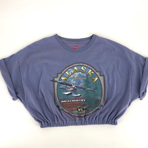 RECOLLECTION Vintage Alaska Air Crop T-Shirt