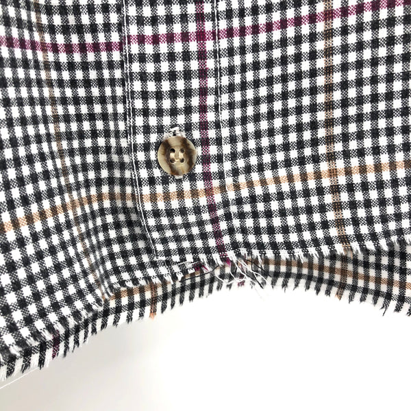RECOLLECTION Plaid Boxy Crop Flannel