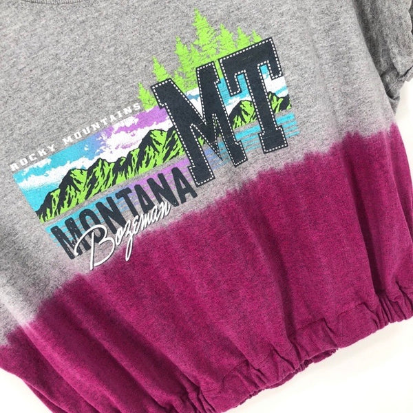RECOLLECTION Vintage Montana Crop T-Shirt