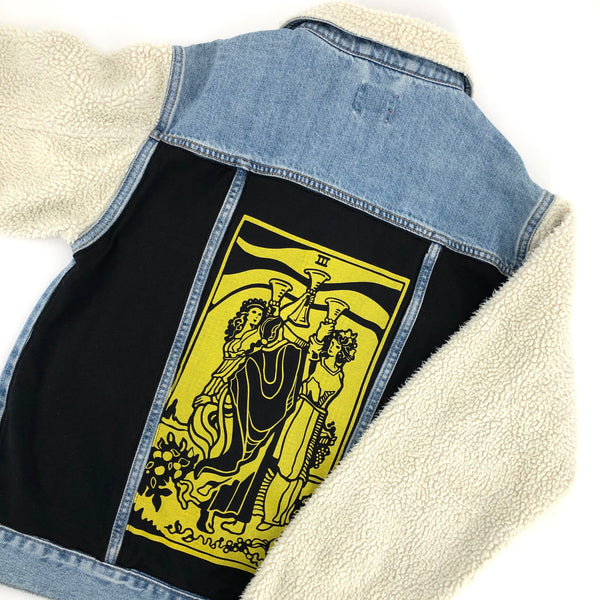 RECOLLECTION Tarot Denim Sherpa Jacket