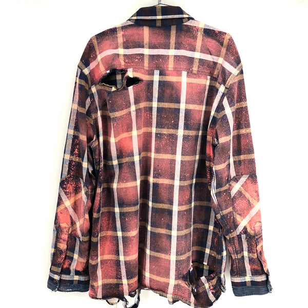 RECOLLECTION Distressed Plaid Flannel