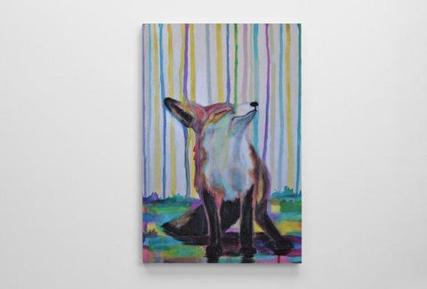 Color Fox Canvas 8X12 Britni Siekaniec Art