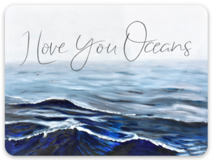 I Love You Oceans ~ Sticker Stickers
