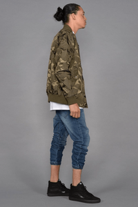 Tonal Fatigue Bomber Jacket (Olive) Men