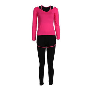 3pcs Yoga Outfit Sport Suit Woman Fine Cotton Clothes Pants Fitness suit Sports Bra Running