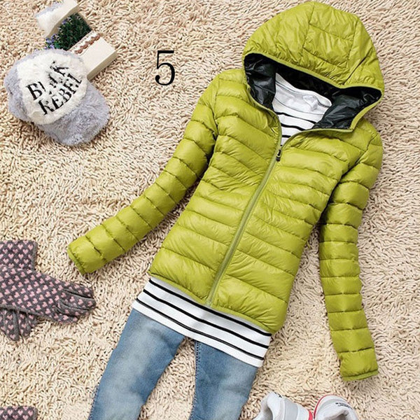 Fashion Women's Casual New Hooded Winter Warm Cotton Parka Jacket Coats