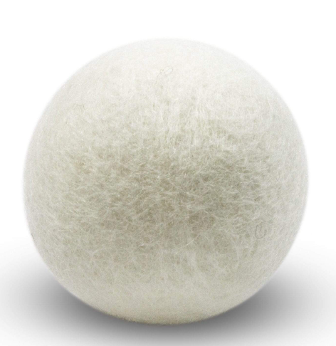 Wool Dryer Balls - Single, Creamy White