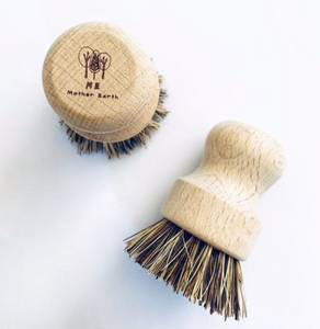 Wood Scrub Brush for Pots and Pans