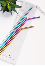 Load image into Gallery viewer, Stainless Steel Straw - Rainbow