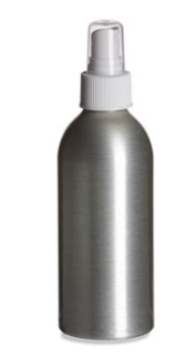 Aluminum Bottle w/Atomizer - 4 oz.