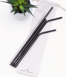 Stainless Steel Straw - Black