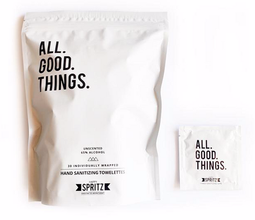 All Good Things Hand Sanitizing Towelettes - Pack of 30