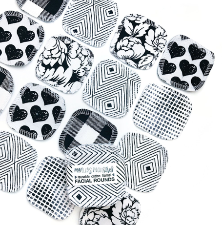 Reusable Facial Rounds - Monochrome