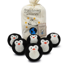 Load image into Gallery viewer, Wool Dryer Balls - Penguins (6-pack)
