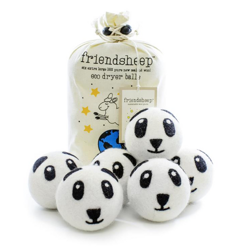Wool Dryer Balls - Pandas (6-pack)