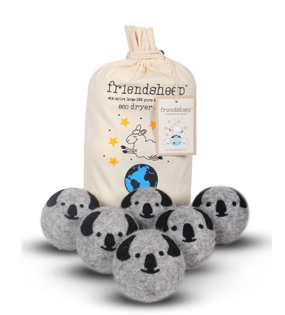 Wool Dryer Balls - Koalas (6-pack)