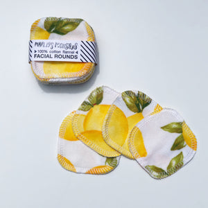 Reusable Facial Rounds - Lemons