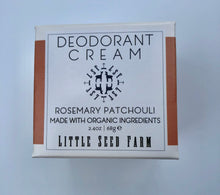 Load image into Gallery viewer, Deodorant Cream - Rosemary Patchouli
