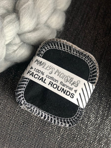Reusable Facial Rounds - Mixed Grey