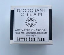 Load image into Gallery viewer, Deodorant Cream - Activated Charcoal
