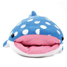 "Load image into Gallery viewer, Amuse 252590A Polka Dot Whale Shark 28"" Plush - Blue"
