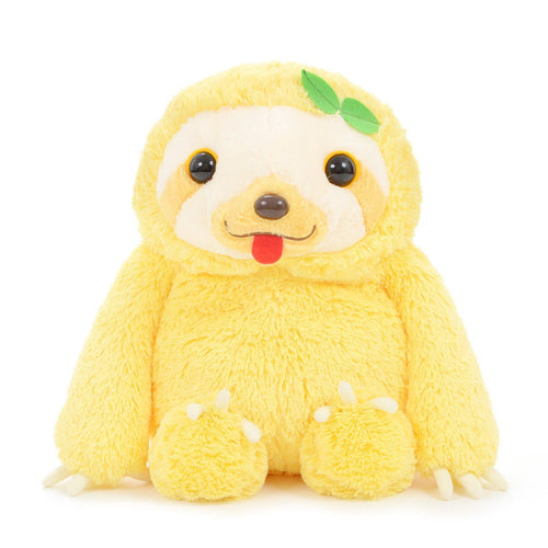 Amuse Namakemono No Mikke Nakayoshi Sloth Plush Yellow Stuffed Animal Toy Plushie